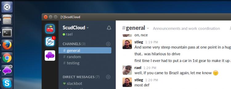 scudcloud slack app on ubuntu linux