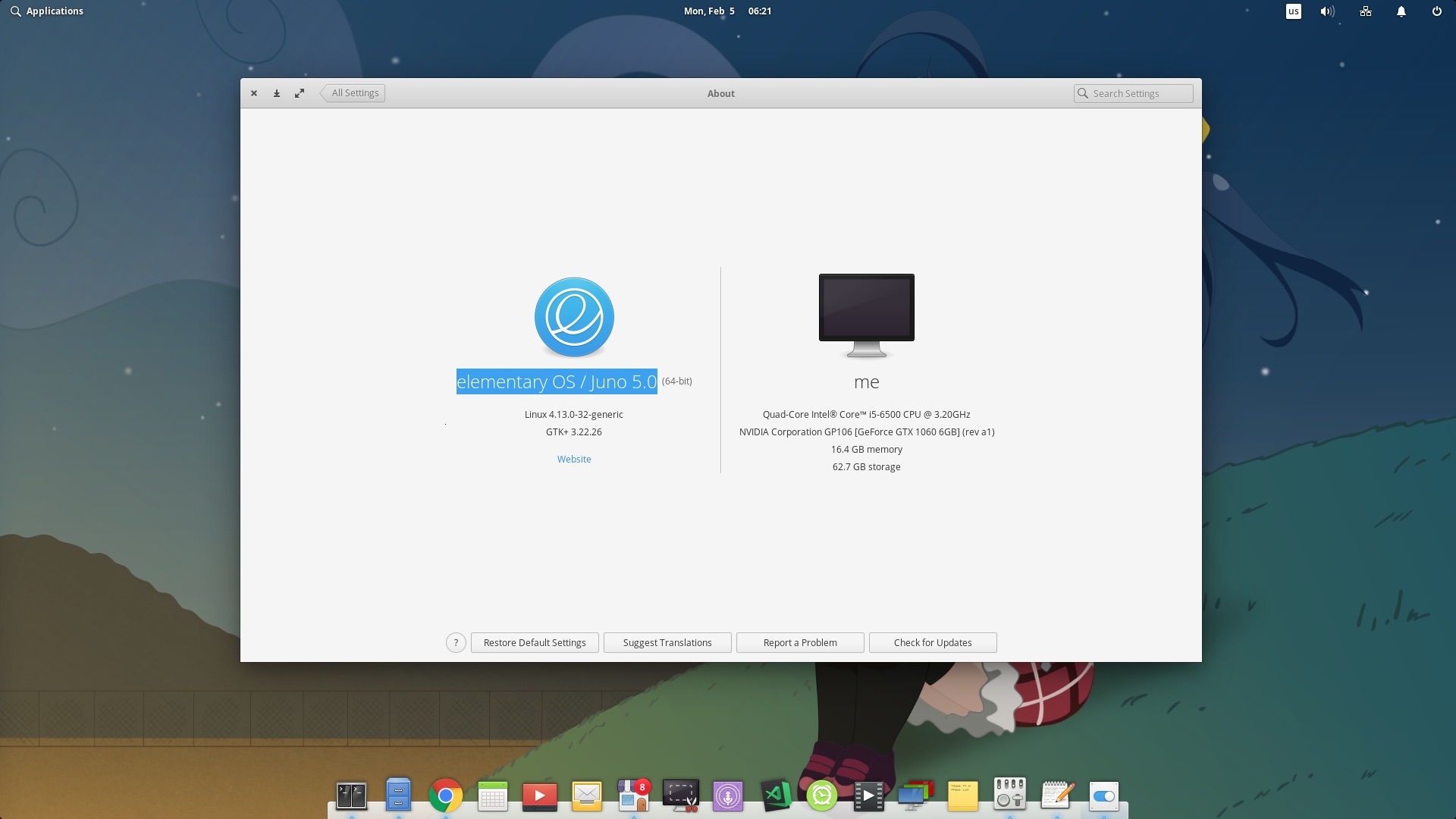 elementary os 5.0 screenshot