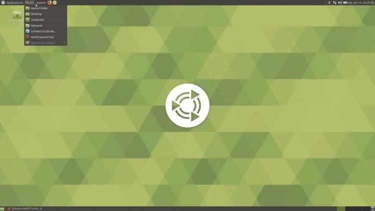 Ubuntu Mate 18.04 bionic beaver traditional layout