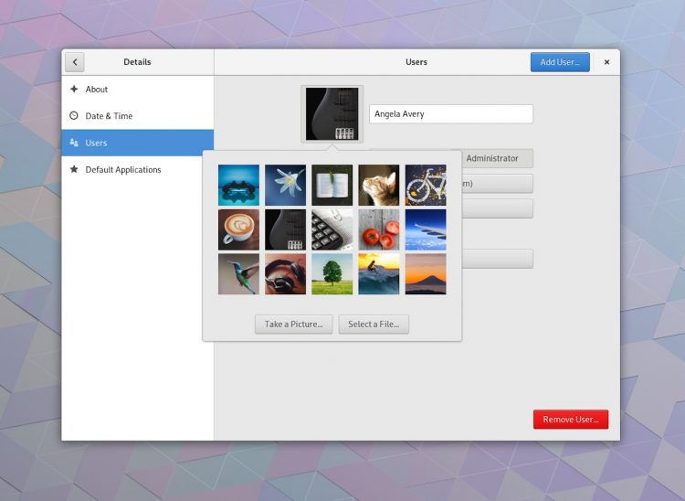 GNOME 3.28 features new avatars
