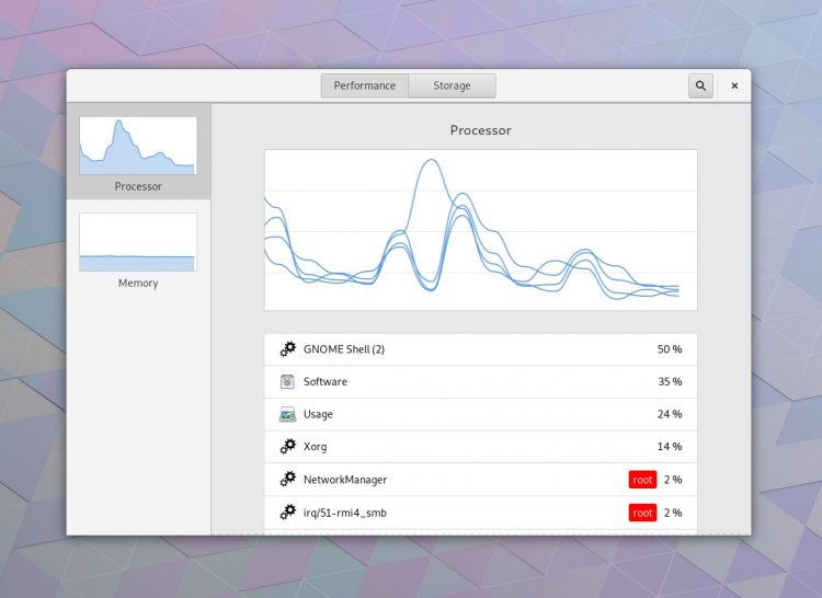 GNOME 3.28 features - new usage app