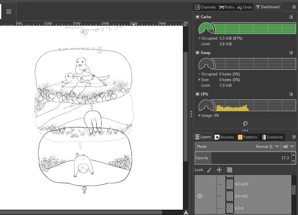 GIMP 2.10 dockable monitor widget