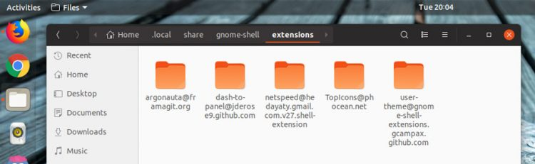 folder to install gnome extensions