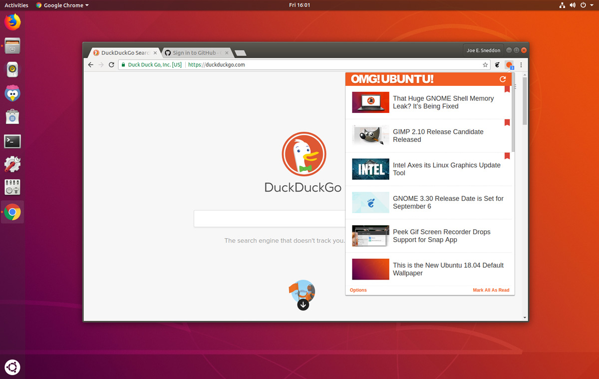 How to install google chrome on ubuntu omg ubuntu open firefox the default web browser on ubuntu and head to the official google chrome download stopboris Choice Image
