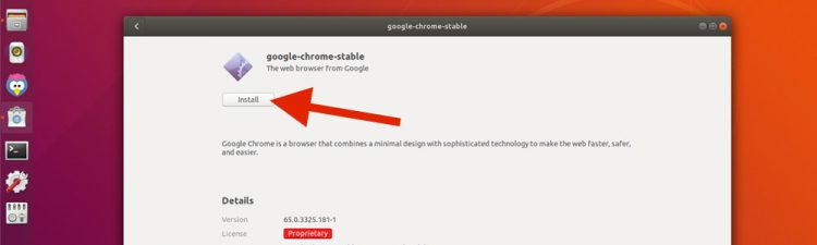 install in ubuntu software app