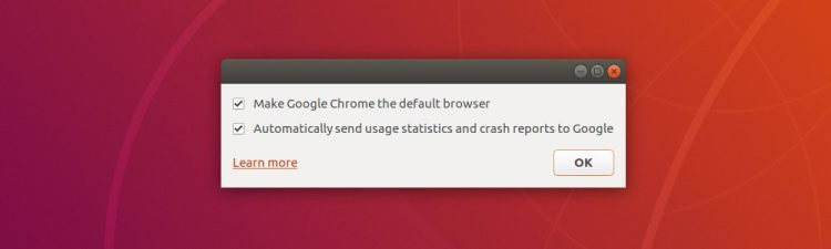 dialog prompt to make chrome default browser