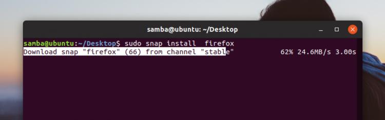 Firefox Snap Install