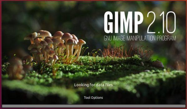 GIMP 2.10 splash screen