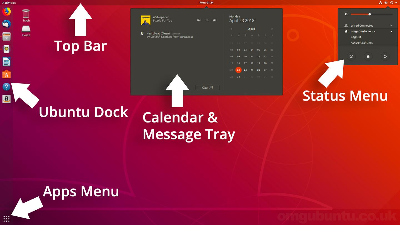 ubuntu 18.04 its desktop layout explained