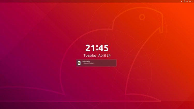 Ubuntu 18.04 lock screen