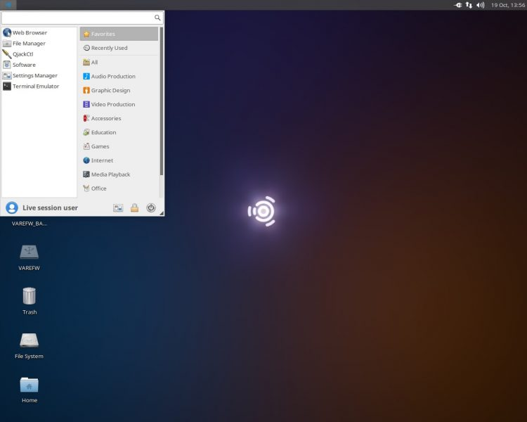 ubuntu studio desktop screenshot
