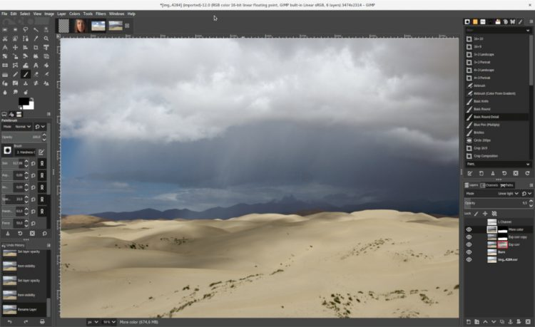 GIMP 2.10 UI