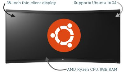 This 38-inch Curved Monitor from LG has a Ryzen CPU and Supports Ubuntu