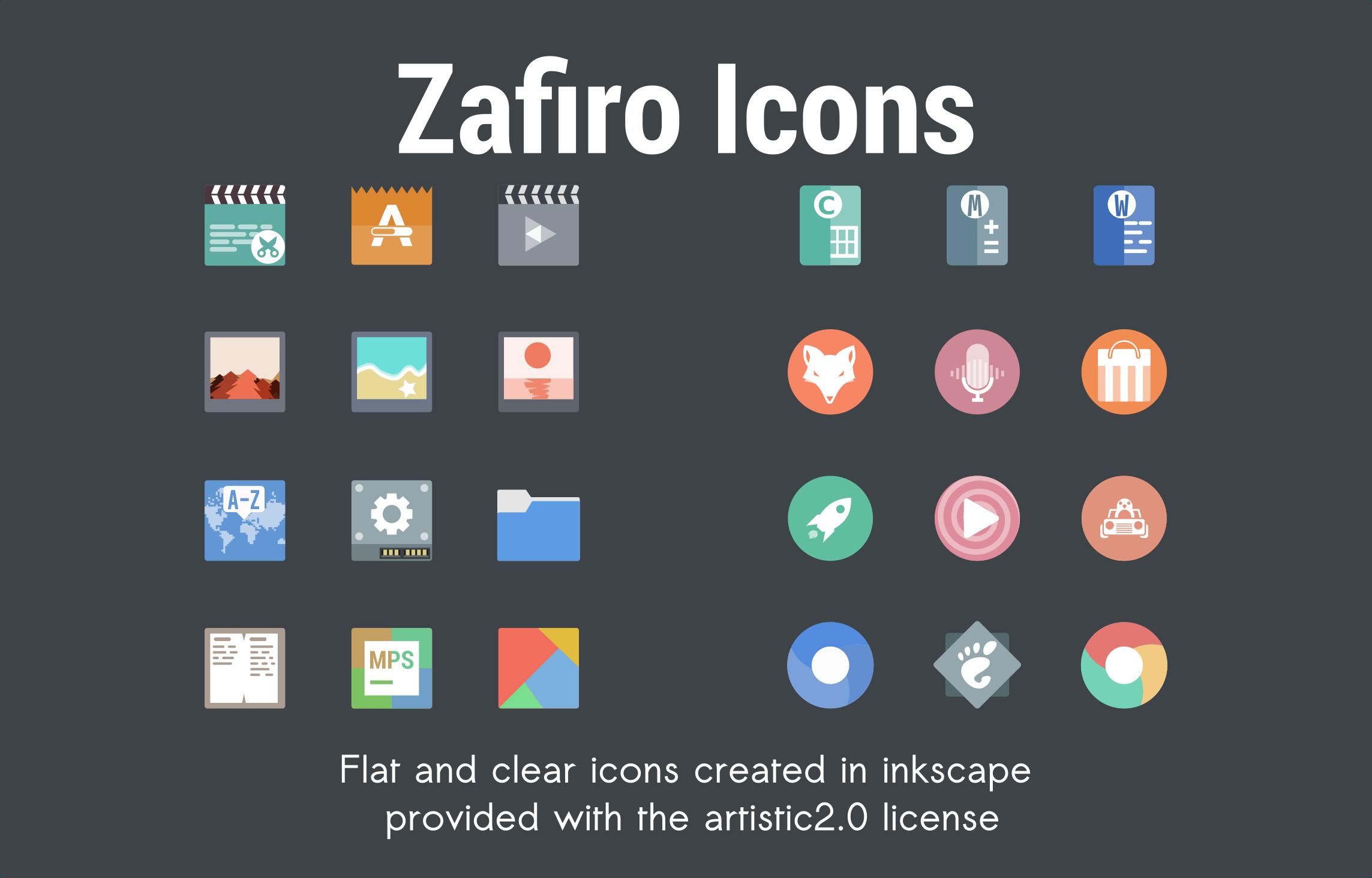 Zafiro is a Softer Alternative Icon Theme for Linux Desktops