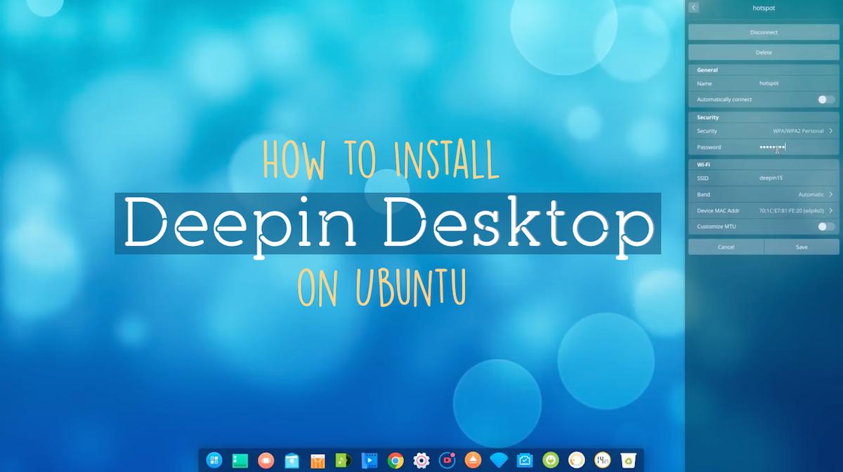 how to install deepin desktop on ubuntu