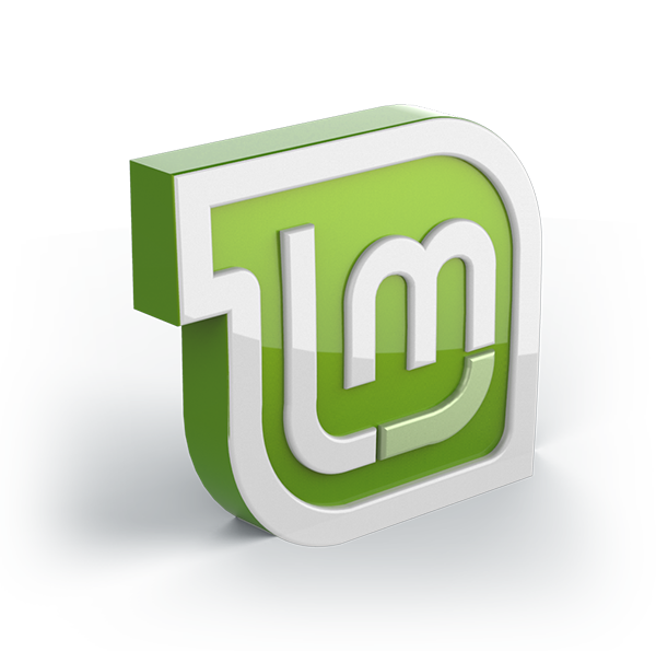 a 3d linux mint logo