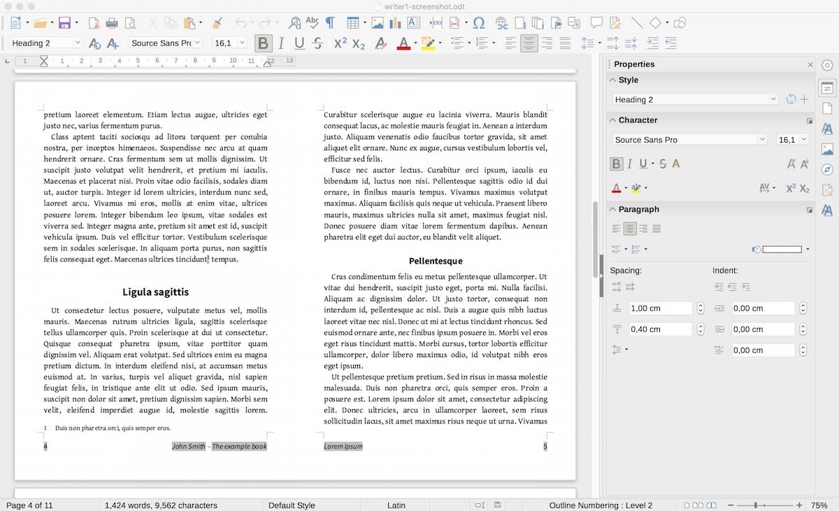 libreoffice 6.1 writer screenshot
