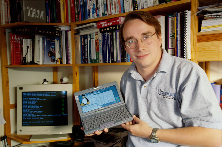 a young Linus Torvalds