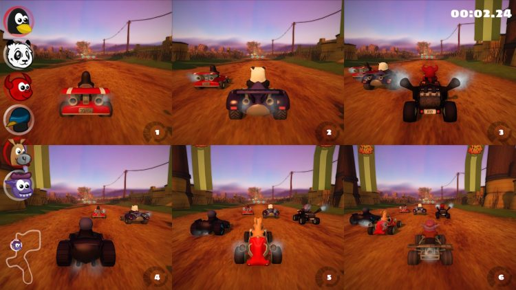 split screen multiplayer in super tux kart