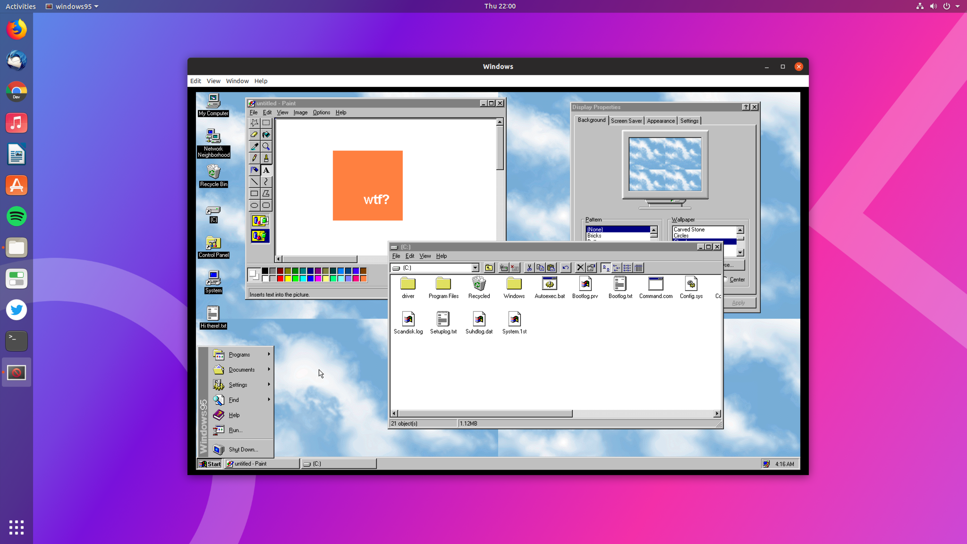 Run Windows 95 on Your Desktop as an Electron App - OMG! Ubuntu!
