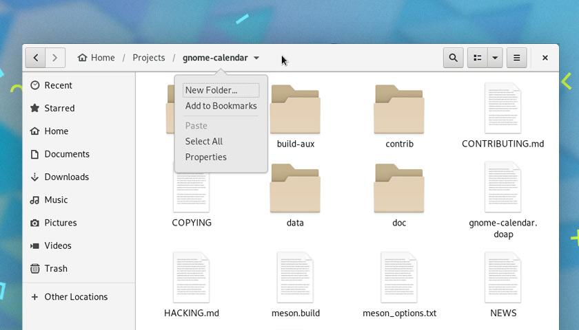 Особенности GNOME 3.30 - Наутилус