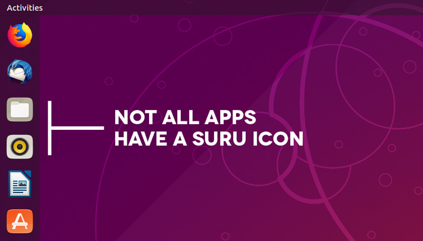 suru icon gaps