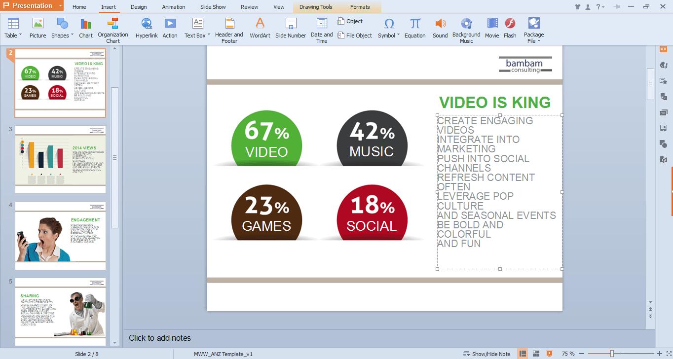 WPS office - presentation