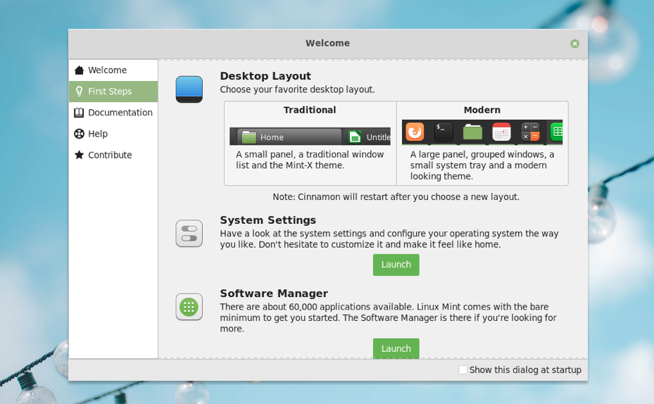 Linux Mint Cinnamon 4.0 desktop has a new panel layout