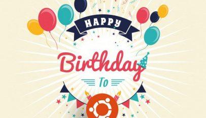 happy birthday ubuntu graphic