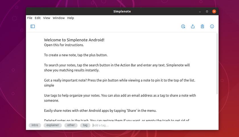 Simplenote's new focus mode....