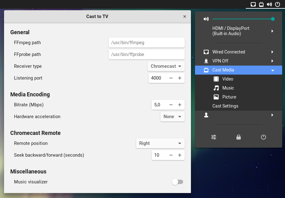 Cast to TV' Lets You Stream Media From Ubuntu to Chromecast