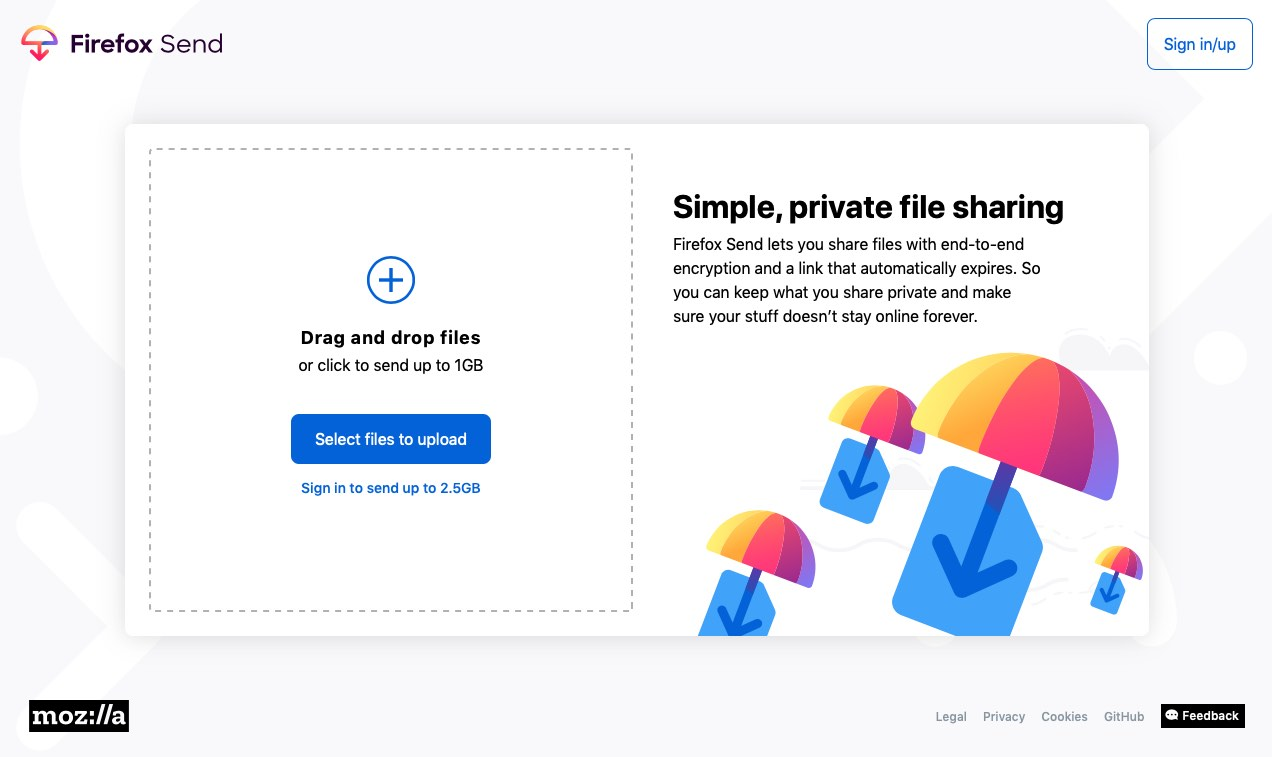 Firefox Send is a Free, Encrypted File Sharing Service - OMG