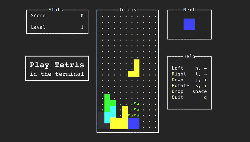 How to Play Tetris in the Linux Terminal