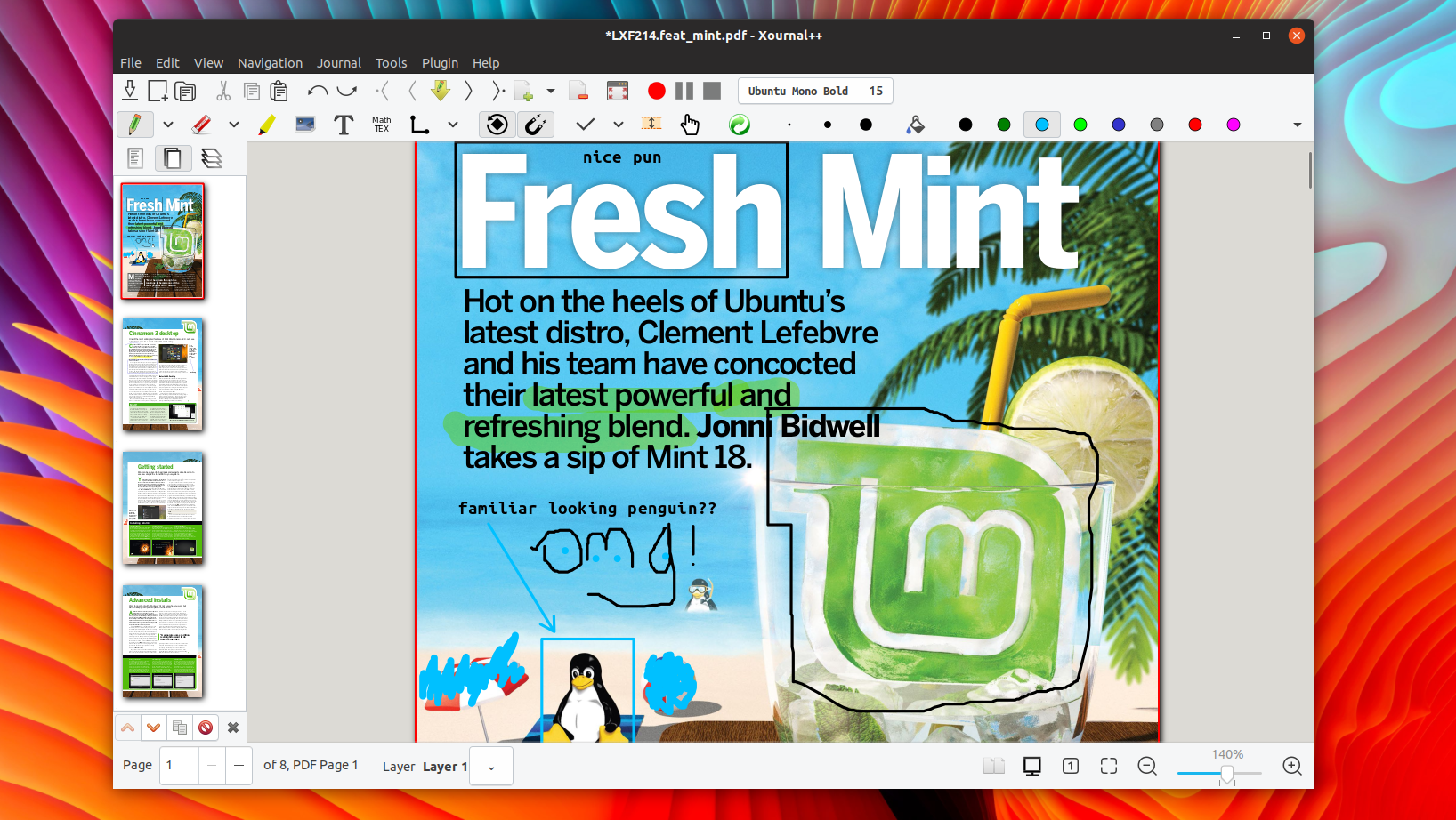Use Xournal To Take Handwritten Notes Or Annotate Pdfs On Linux Omg Ubuntu